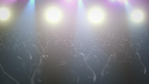 Concert Crowd Waving - Pan stock footage