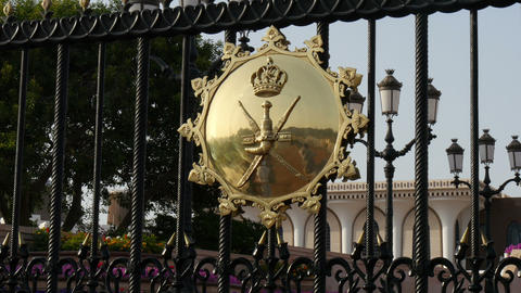 Gate At Al Alam Palace In Muscat Oman Closeup stock footage