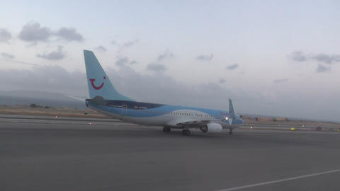airjet - airplane in airport runway Footage