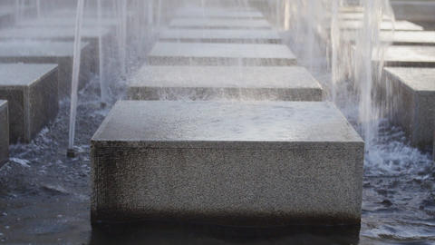 Fountain Cubes 04 stock footage