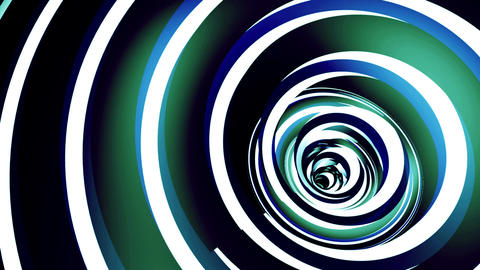 Rotated twisted blue tunnel. Loop animation Animation