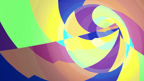 Color VJ Tunnel Background stock footage