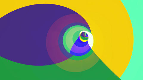 Color VJ tunnel background. Loop animation Animation