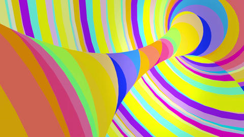 Multicolored motion torus. Loop animation Animation