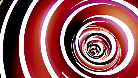 Rotated twisted red tunnel. Loop animation Animation