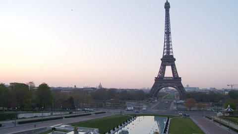 Sunrise Eiffel Tower- Time Lapse stock footage