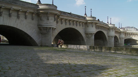 Pont Neuf - bridge in Paris, France Editorial use Footage
