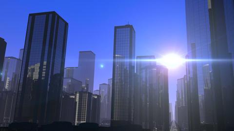 Futuristic City Drive Animation