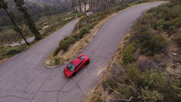 Lamborghini Gallardo At Angeles Crest Hwy stock footage