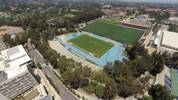 Stadium Next To The University Of California stock footage