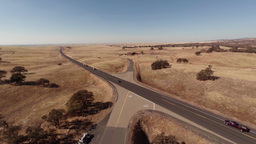 The Road Through The Farm Field stock footage