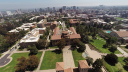Flying Over The University Of California, Los Angeles, Beverly Hills stock footage