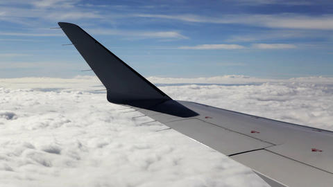 Airplane Wing View Of Cloudscape stock footage