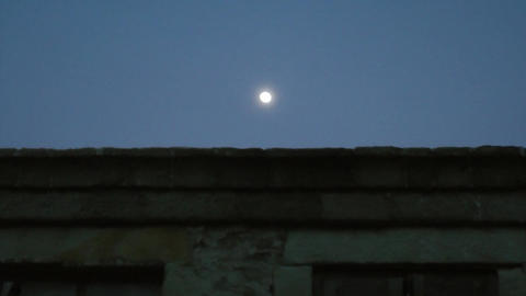 The Moon In The Sky stock footage