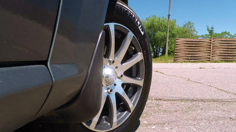 Car Wheel stock footage