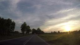 fast driving car through non urban road Footage