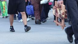 Large Density of People Walking Footage