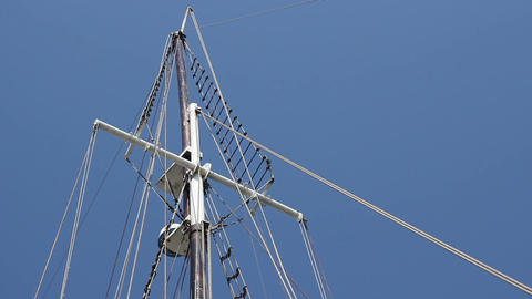 Mast of a Ship Footage
