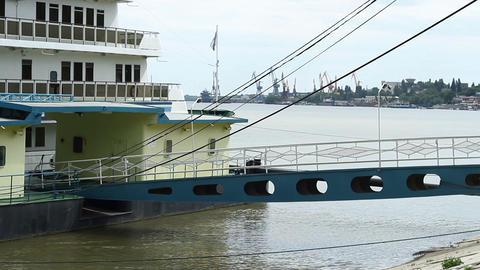 River Ship Deck Bridge Footage