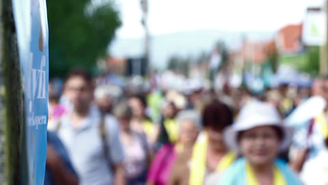 Thousands Of People Marching stock footage