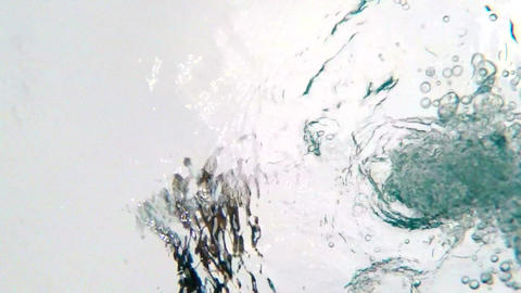 Underwater POV of Water Being Poured Footage