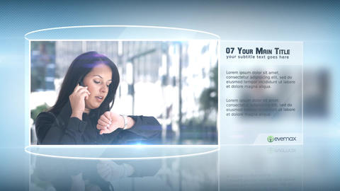 Corporate Glassy Promo After Effects Template