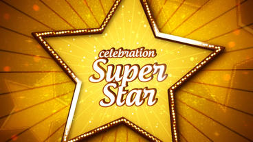 Celebration Super Star Promo After Effectsテンプレート