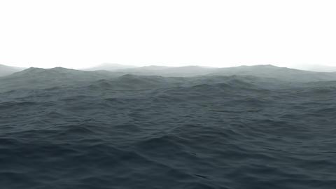 Ocean With Fog stock footage