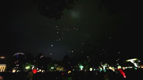 Joint Kite Lanterns stock footage