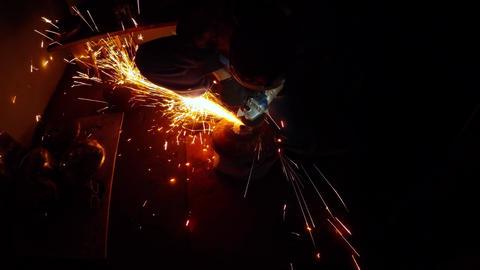 210. Angle Grinder Strike Sparks In The Dark 2