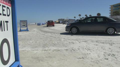 Cars On Daytona Beach Footage