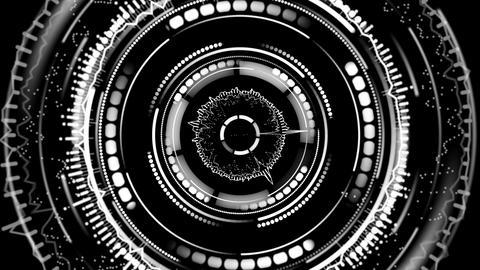 rotating circular elements futuristic loopable background 4k (4096x2304) Animation