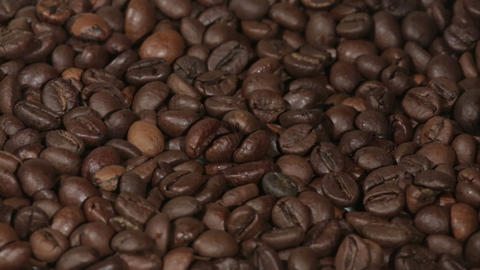 Coffee Beans Close View stock footage