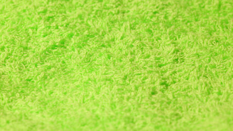 Closeup Of A Green Cotton Towel stock footage