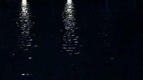 Pool At Night stock footage