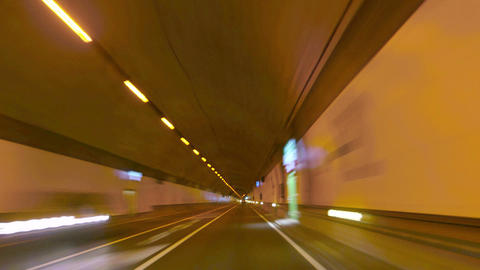 Highway Tunnel Rage Camera Car at High Speed Footage