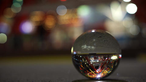Crystal Ball With Reflection stock footage