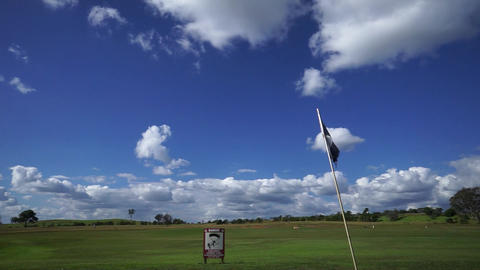 Paraglider Landing stock footage