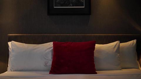 Interior Of Bedroom stock footage