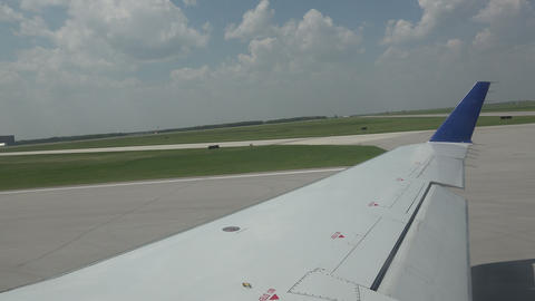 Airplane Taking Off From Runway Footage