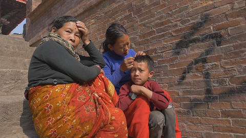 PATAN, NEPAL - MARCH 23, 2015 : Unidentified nepal people in Patan, Nepal Footage