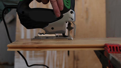 sawing jigsaw Footage