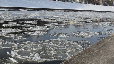 floating pieces of ice Footage