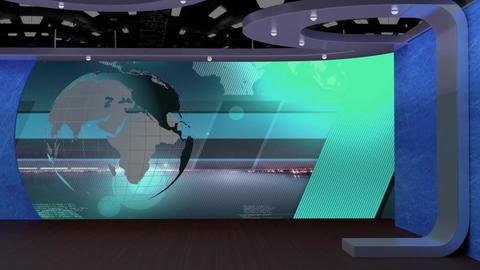 News TV Studio Set 69 - Virtual Background Loop Footage