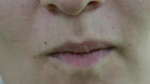 closeup woman face kisser eat diet healthy blackberry smile Footage