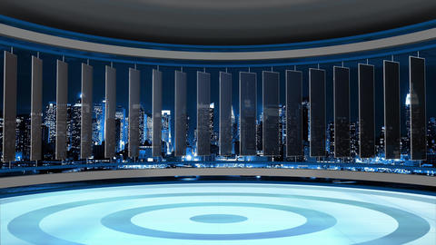 News TV Studio Set 75 - Virtual Background Loop Footage