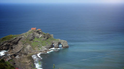 The San Juan de Gaztelugatxe. Basque Country, Spain Footage