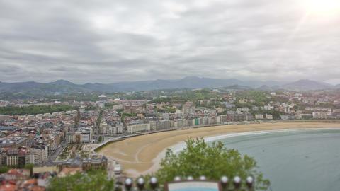 San Sebastian - Donostia, The Basque Country, Spain. Timelapse Acción en vivo