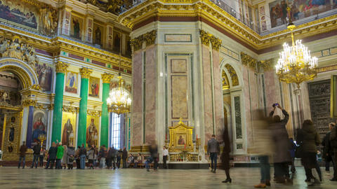 Saint Isaac's Cathedral interior zoom out timelapse 4K in St Petersburg Footage