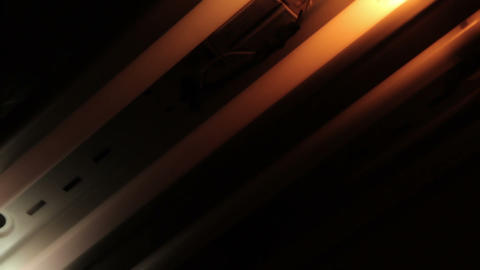 Broken old fluorescent bulbs flashing Footage